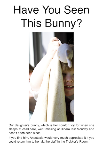 Have you seen this bunny?