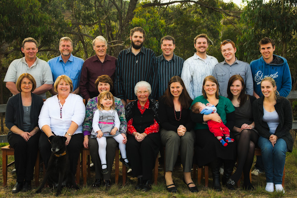 photo of Tim's extended family, Easter 2011